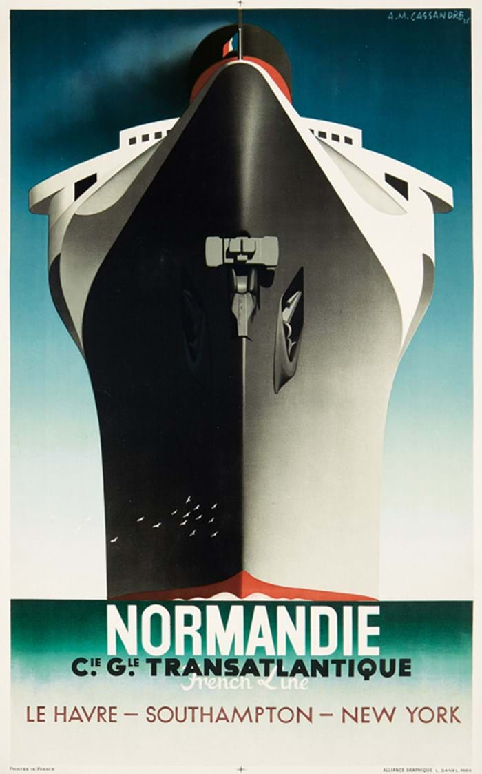 SS Normandie poster