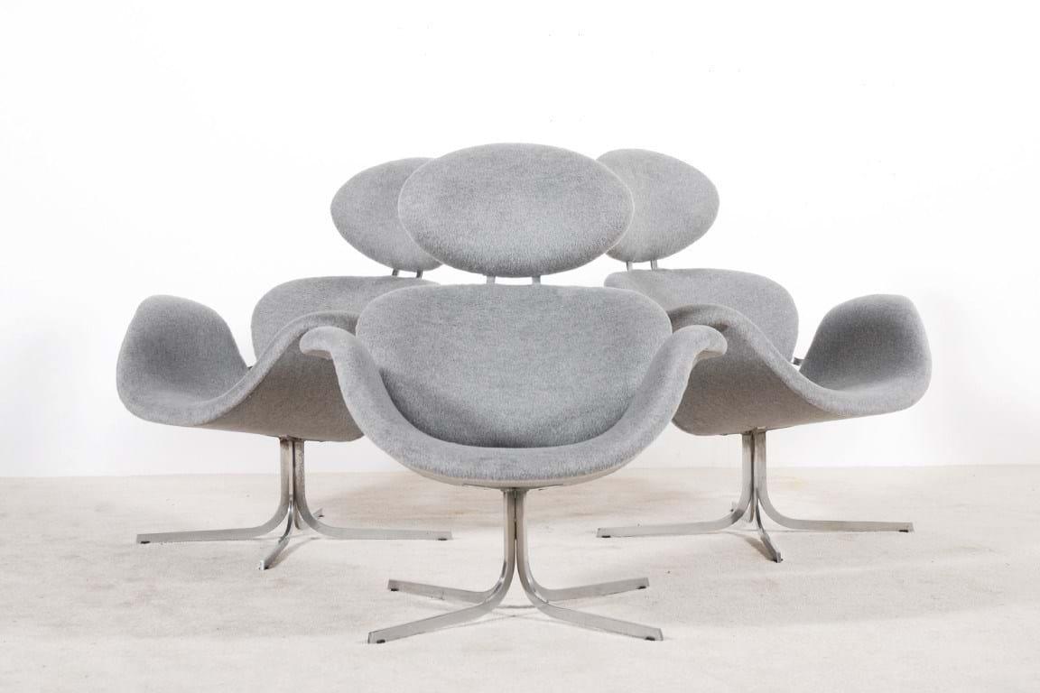 Pierre Paulin Big Tulip chairs