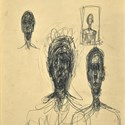 Drawing by Alberto Giacometti