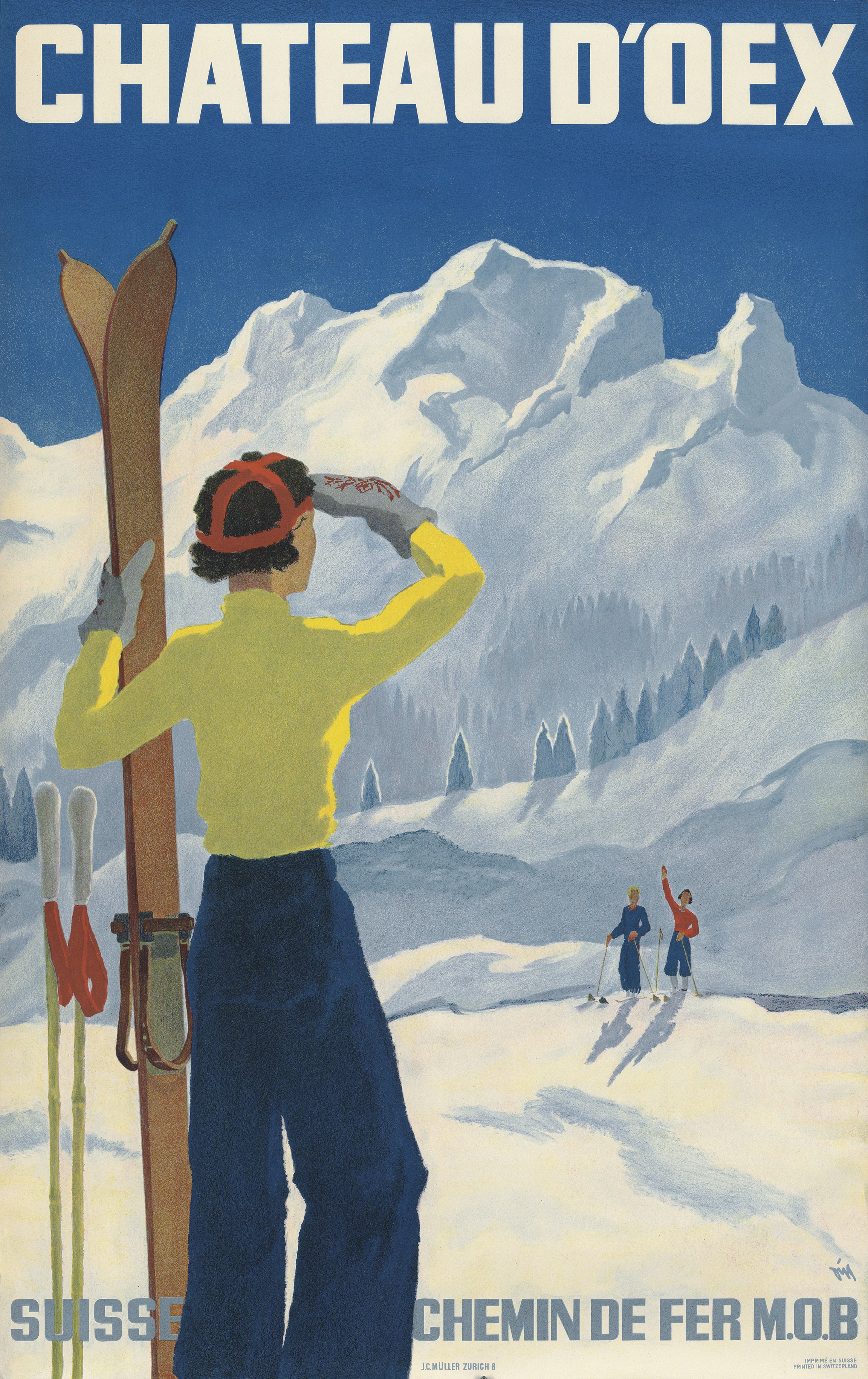 Six Snaps Of Ski Scenes From Vintage Poster Sale