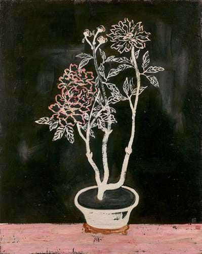 Sanyu's Pot of Flowers painting