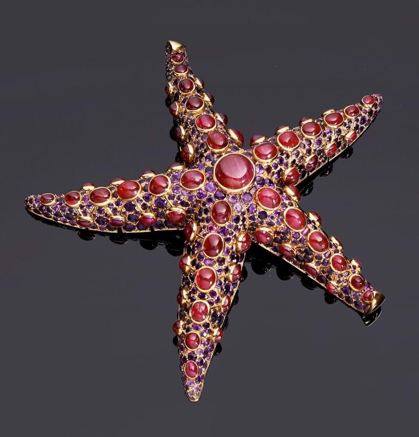 René Boivin Starfish brooc