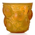 Lalique glass Oran vase