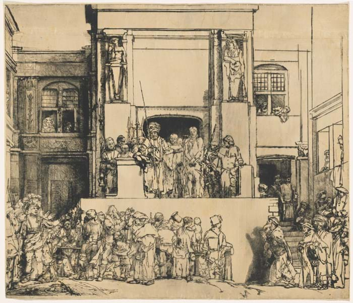 'Christ Presented to The People ('Ecce Homo')' by Rembrandt