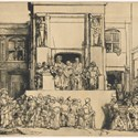 Christ Presented to The People, a Rembrandt drypoint