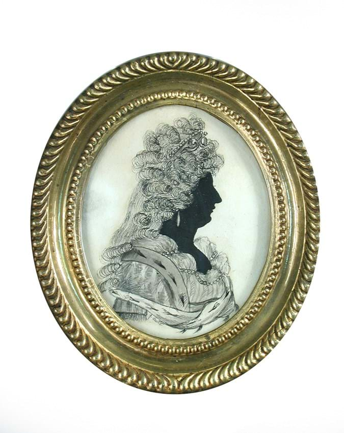Sarah Siddons silhouette, J Leith, at Cheffins