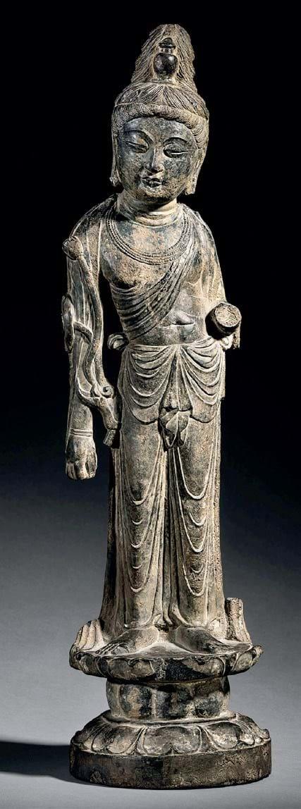 Tang limestone sculpture
