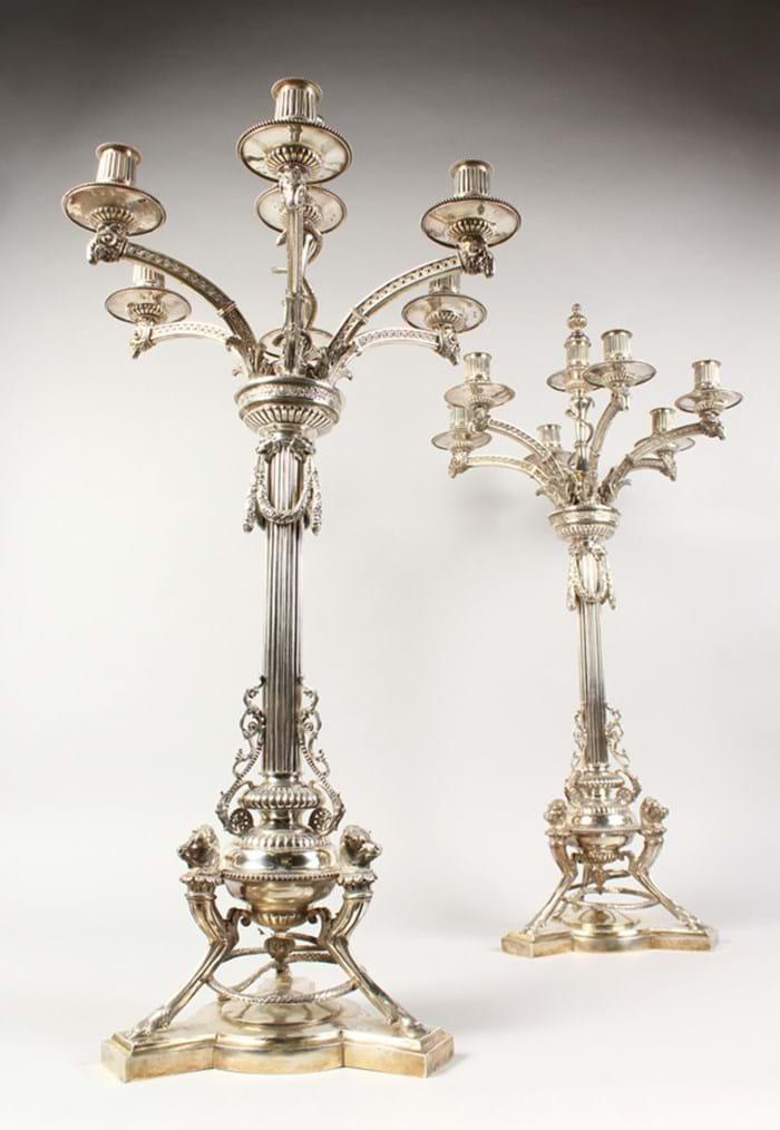 Victorian silver candelabra
