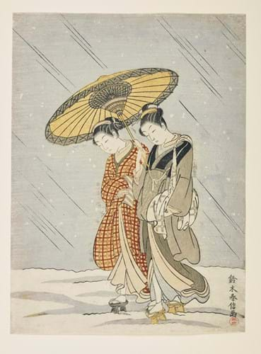 Japanese Chuban woodblock print