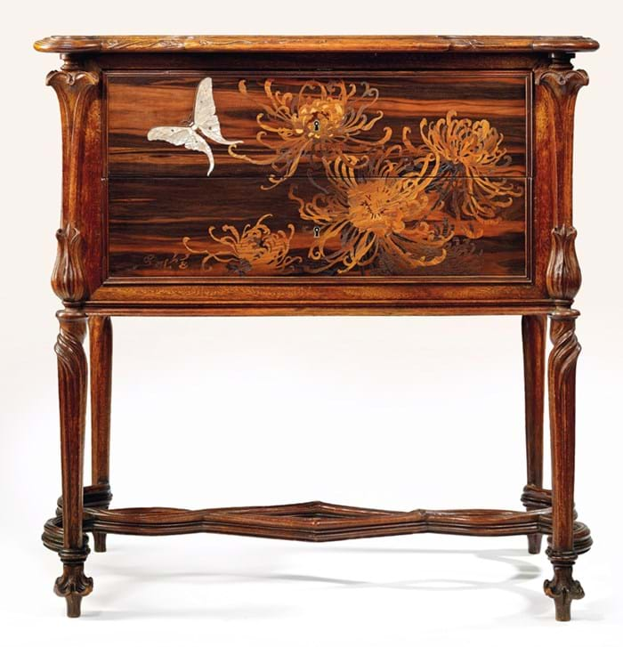 A marquetry commode by Emile Gallé
