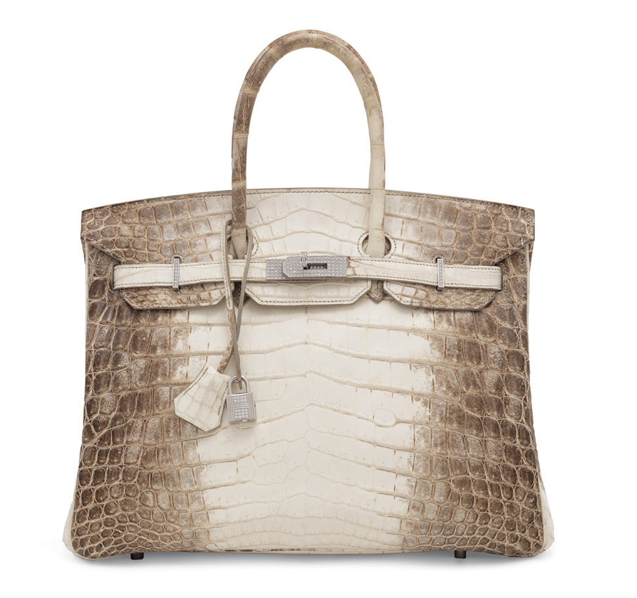 0ae7797091d9 2010 Hermès Himalaya Birkin 35. A 2010 Hermès Himalaya crocodile Birkin 35  with white gold and diamond hardware