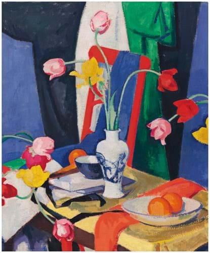'Still Life with Tulips' by Samuel John Peploe