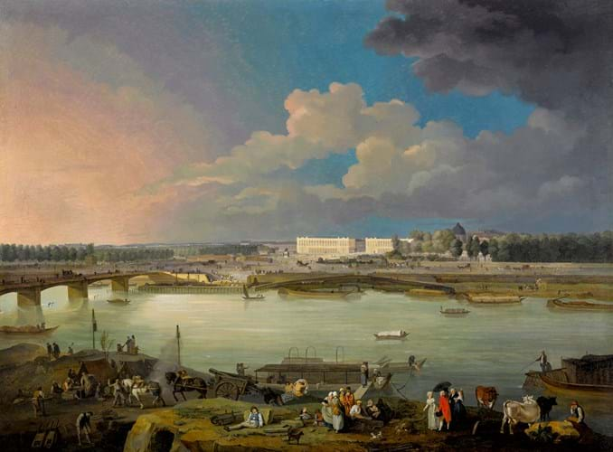 View of the Seine by Jacques-Albert Senav