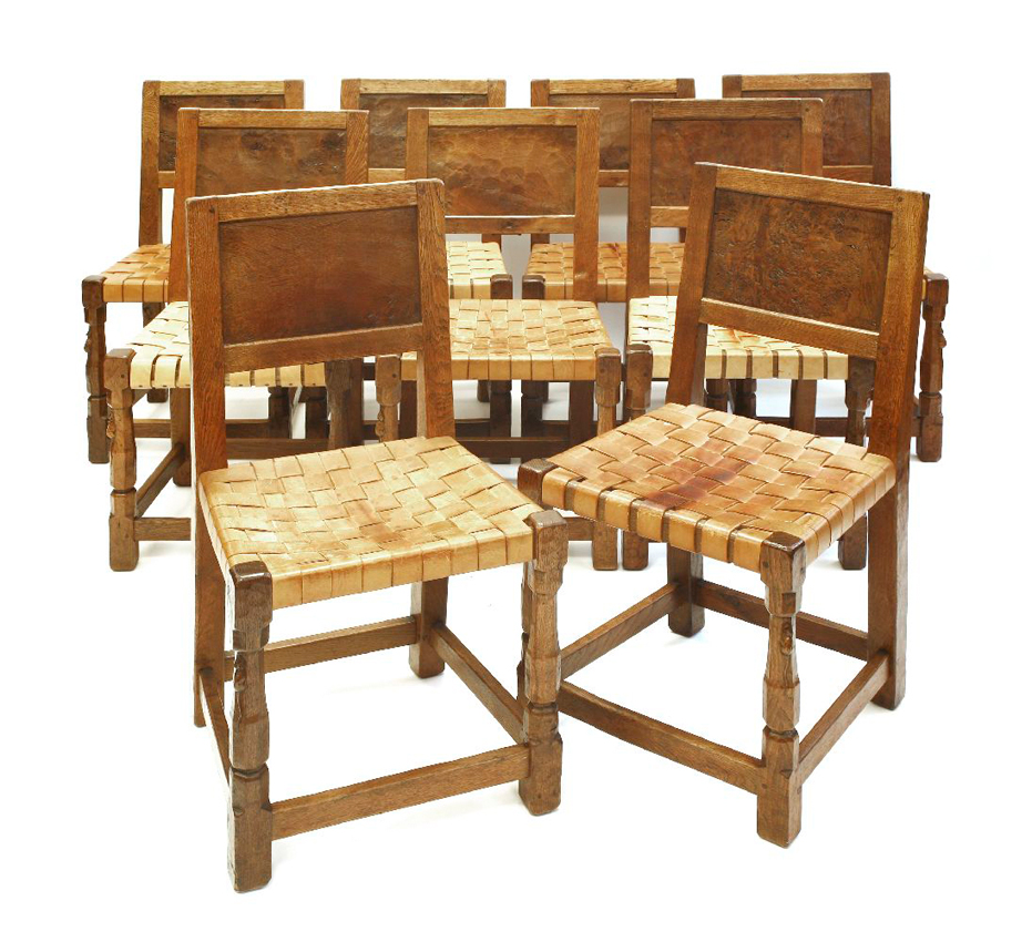 Robert Mouseman Thompson Oak Chairs
