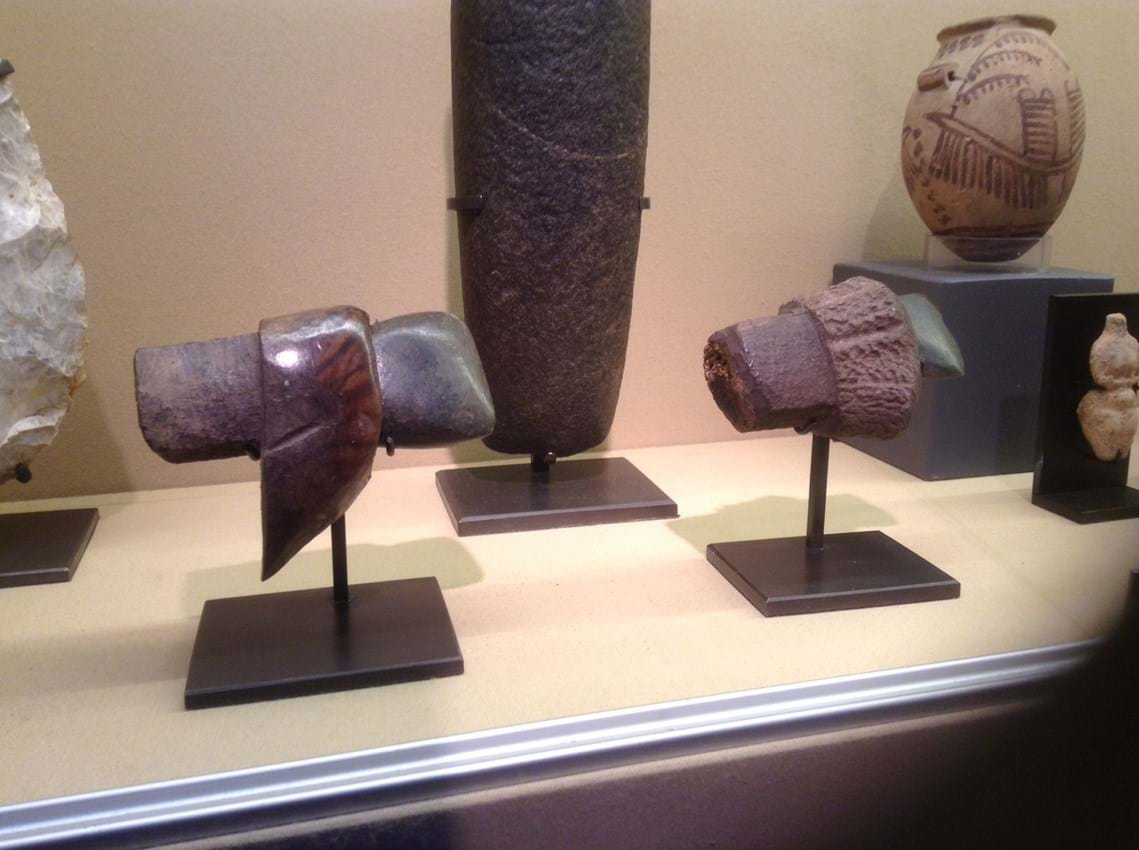 Neolithic stone axe heads