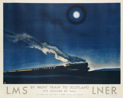Philip Zec LMS travel poster
