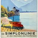 Travel poster advertising The Simplon Line
