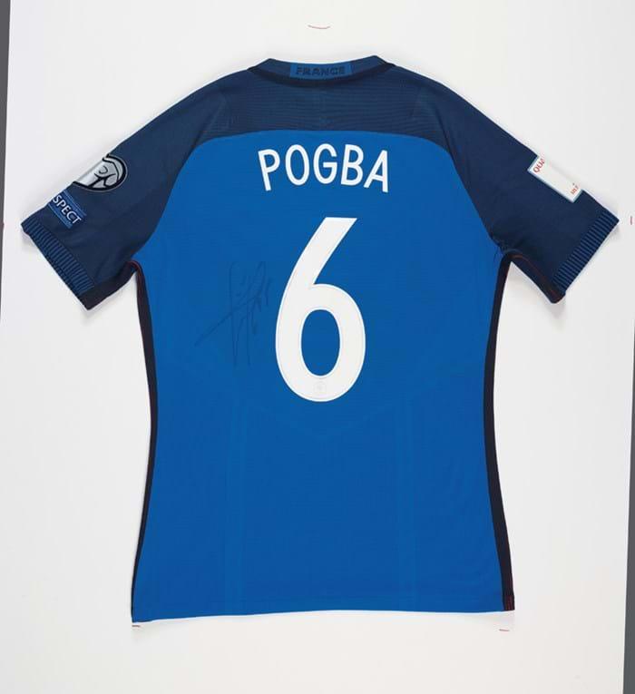 French international shirt worn by Paul Pogba