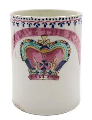 Lowestoft royal commemorative mug
