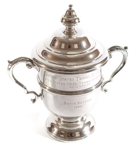 US Open trophy by Tiffany that Boris Becker won