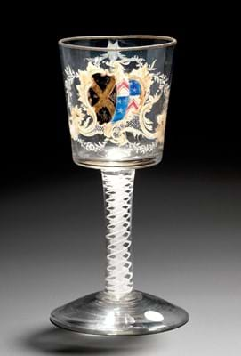 Beilby glass formerly in the Chris Crabtree collection