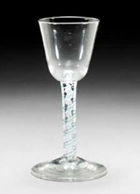 Colour-twist wine glass sold at Sotheby's