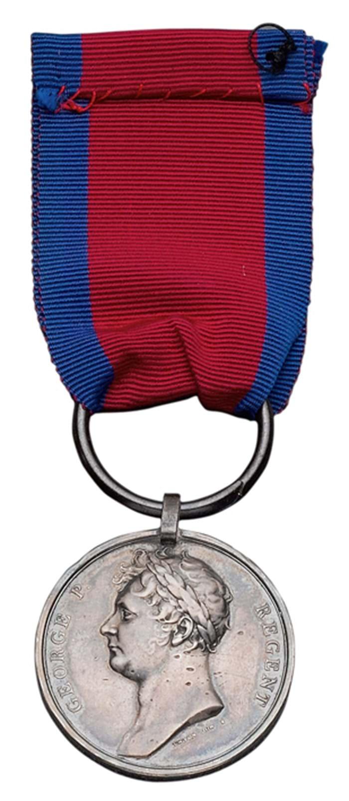 Waterloo Medal awarded to Captain Edwin Sandys