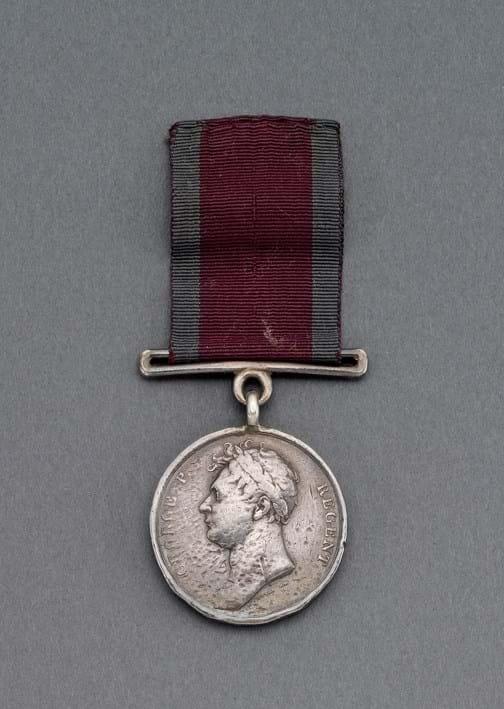 Waterloo Medal awarded to Trooper John Hughes
