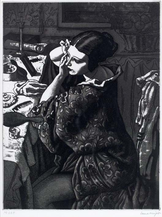 Powder and Paint aquatint by Laura Knight