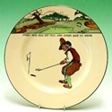 Royal Doulton Golfing Series plate