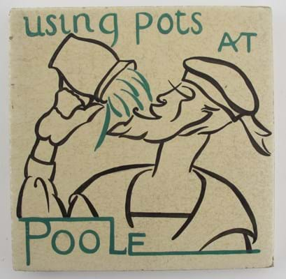 Carters Poole Pottery tile designed by Edward Bawden