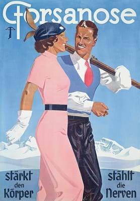 Vintage poster Swiss resort Forsanose