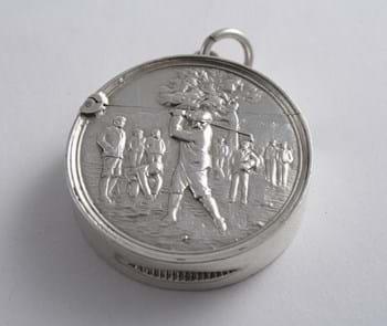 Edwardian silver vesta case by James Fenton Birmingham