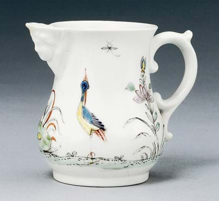 Worcester Porcelain Chinese style cream jug
