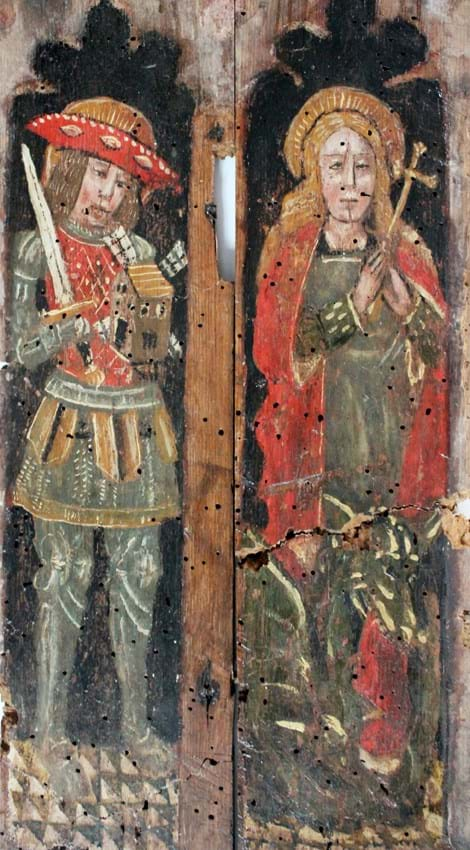 St Victor of Marseilles and St Margaret of Antioch