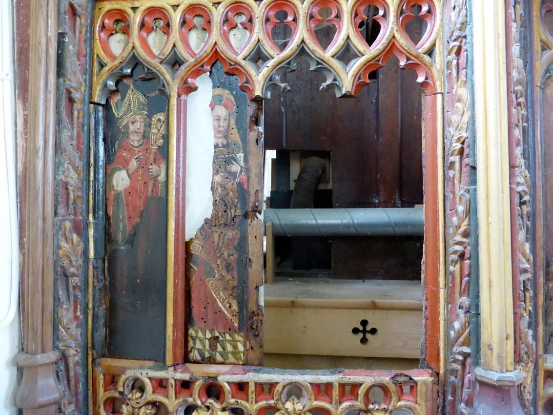 Rood screen of Holy Trinity at Torbryan