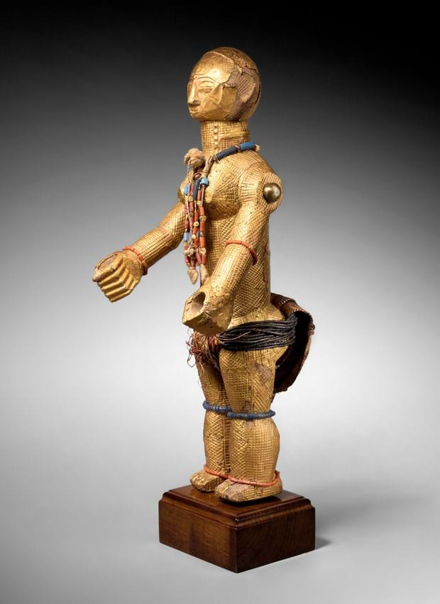 wooden statue from the Ivory Coast