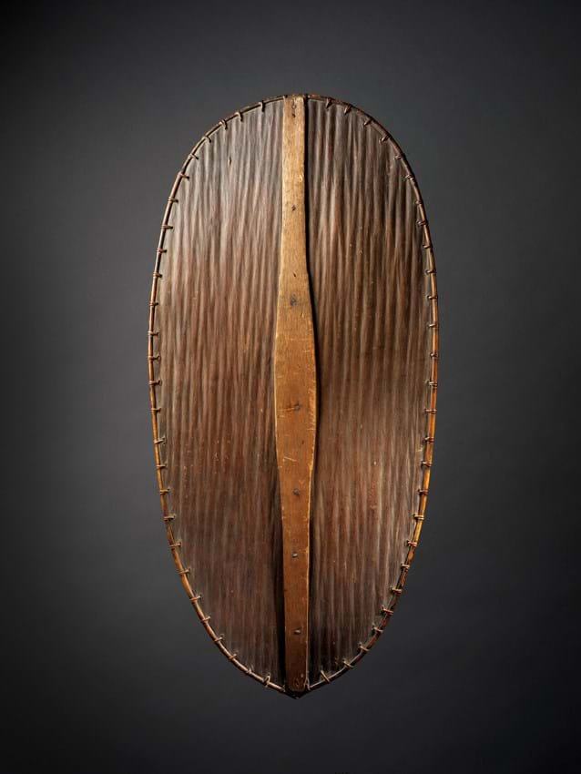 Utap, Dayak shield from Borneo, Indonesia from Patrick and Ondine Mestdagh