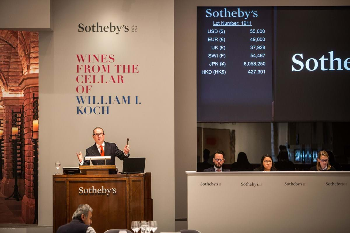 The Koch wine collection under the hammer at Sotheby's