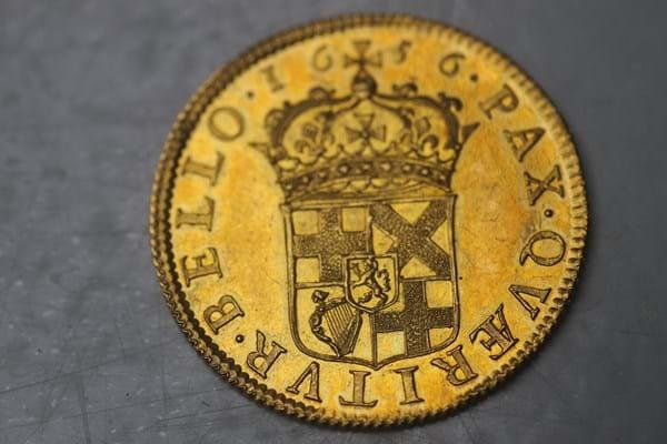 1656 Gold Broad of Twenty Shillings
