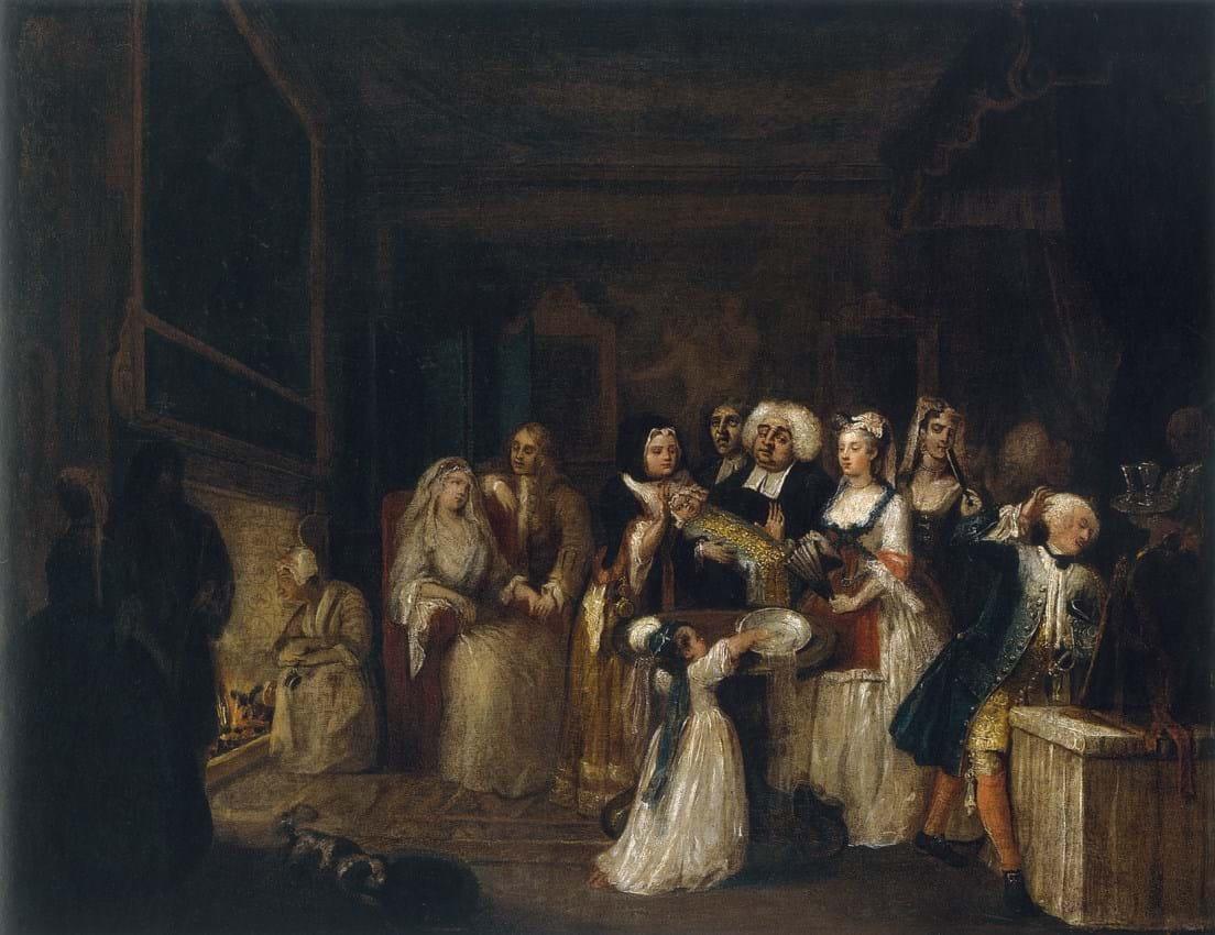 William Hogarth's 'The Christening'