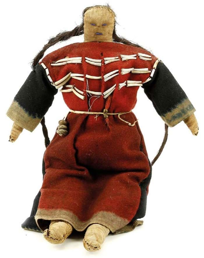 A Native American Plains beaded cloth doll