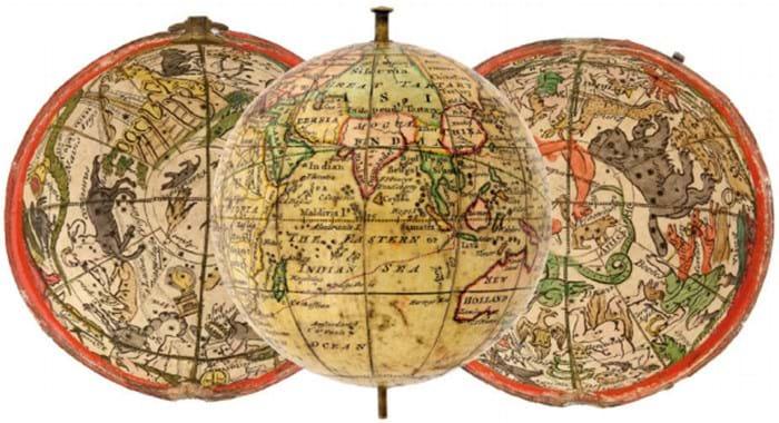 A globe by Nathaniel Hill